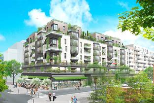 Programme immobilier neuf à Courbevoie (visuel non contractuel).