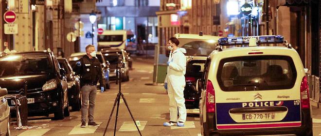 Le lieu de l'attaque au couteau perpétrée à Paris, samedi 13 mai 2018.