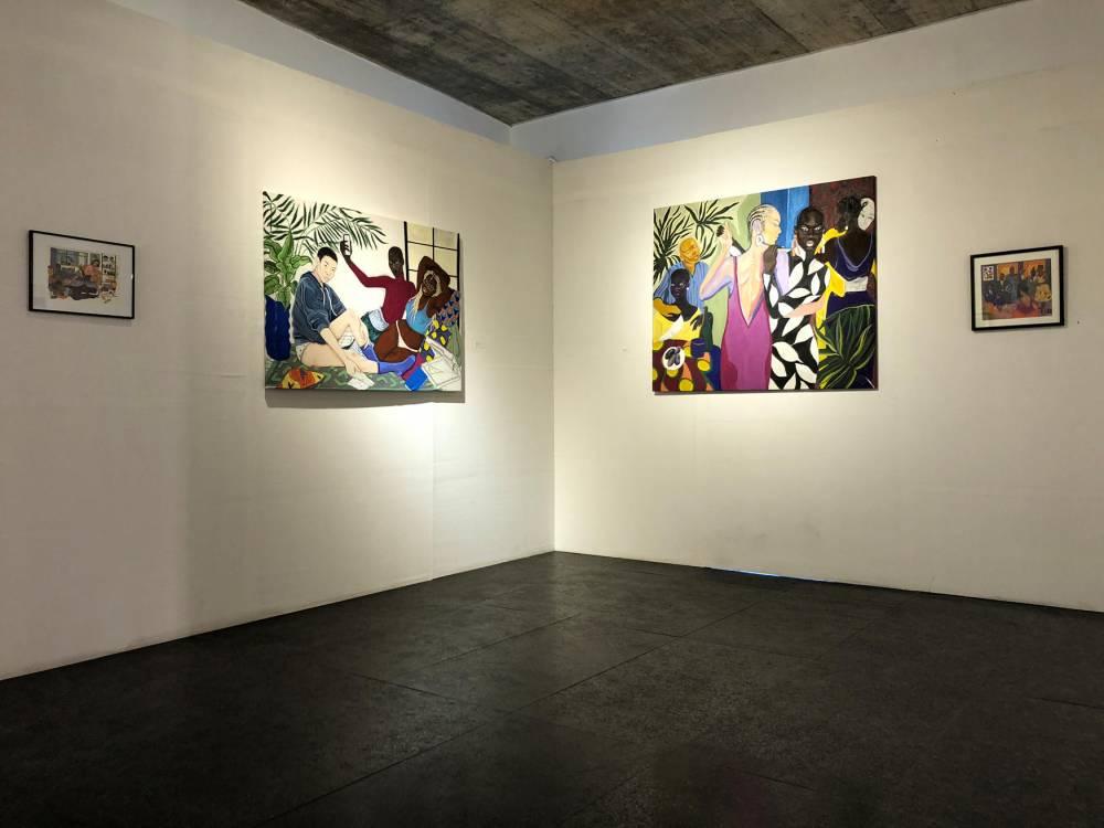 Vue d'oeuvres de « The matter » dans l'exposition de Thomas Cazenave dans le Off de la 13e Biennale d'art contemporain de Dakar. ©  DR