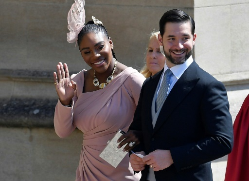 La joueuse de tennis Serena Williams et son mari Alexis Ohanian © TOBY MELVILLE POOL/AFP