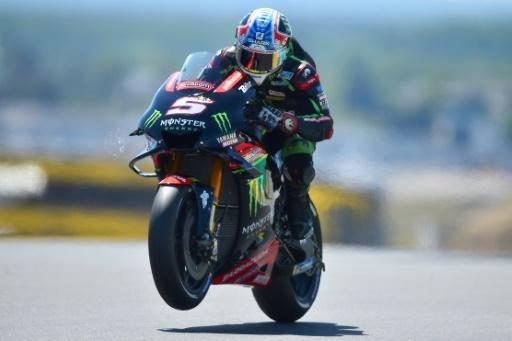 Johann Zarco lors des qualifications du GP de France en MotoGP, le 19 mai 2018 au Mans © JEAN-FRANCOIS MONIER              AFP