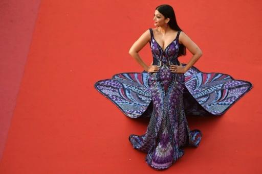 L'ancienne Miss Monde et actrice indienne Aishwarya Rai, à Cannes le 17 mai 2018   © Antonin THUILLIER AFP/Archives