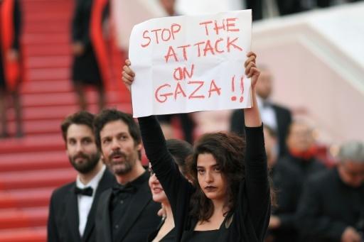 L'actrice franco-libanaise Manal Issa, à Cannes le 15 mai 2018 © LOIC VENANCE AFP/Archives