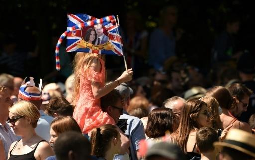 La foule se masse le long de l'allée menant au château de Windsor pour assister au passage du prince Harry et de Meghan Markle, le 19 mai 2018 © Oli SCARFF                           AFP