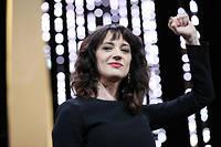 Harvey Weinstein s'est brutalement invité en clôture du 71e Festival de Cannes, samedi soir, par la voix d'une de ses accusatrices, Asia Argento.  ©VALERY HACHE