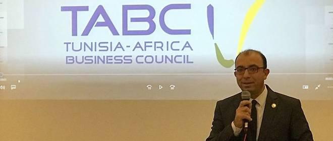 Anis Jaziri en janvier 2018, lors d'un déjeuner-débat organisé par le TABC (Tunisia-Africa Business Council).