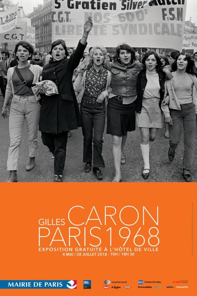 Affiche de l'expo Gilles Caron © Gilles Caron © Fondation Gilles Caron courtesy School Gallery / Olivier Castaing