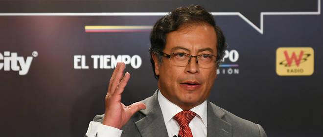Gustavo Petro lors du débat télévisé précédant l'élection présidentielle, le 24 mai.