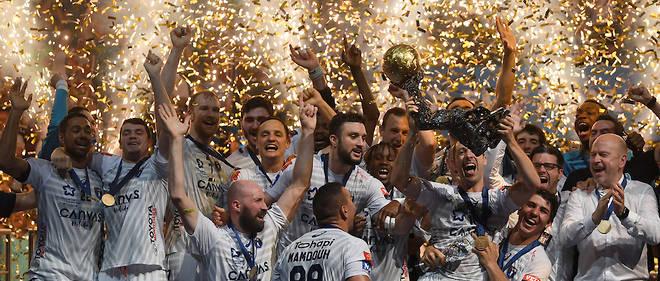 ae804e1df2c6b La joie des handballeurs de Montpellier qui ont remporté la seconde  Ligue des