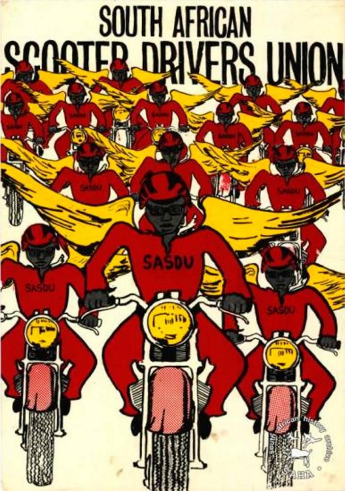 Un poster du South African Scooter Drivers Union, 1984 ©  SAHA