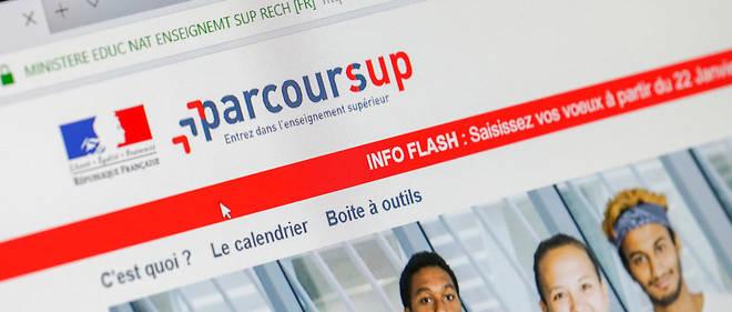 La page d'accueil de Parcoursup, le site d'admission post-bac.