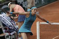 Caroline Garcia a tranquillement franchi le 1er tour de Roland-Garros.  ©THOMAS SAMSON
