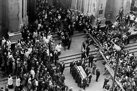 Funérailles du sénateur Robert F. Kennedy, assassiné le 5 juin 1968 à l'hôtel Ambassador de Los Angeles, 5 ans après son frère John F. Kennedy.