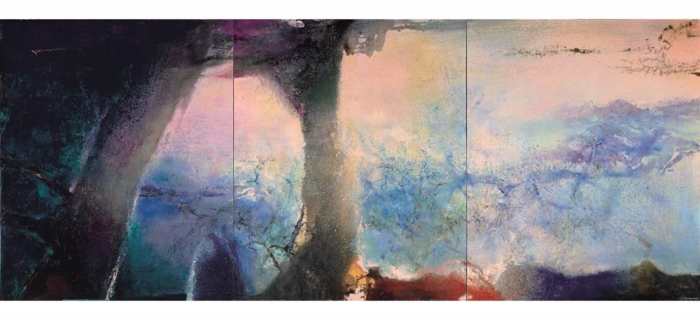 Hommage à Claude Monet, triptyque 1991 © Jean-Louis Losi Collection particulière, Zao Wou-Ki © ADAGP, Paris, 2018
