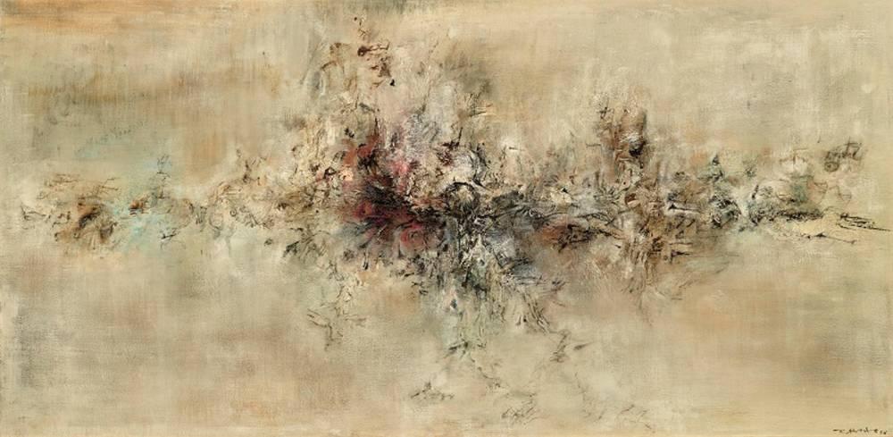 La Traversée des apaprences de Zao -Wou-Ki © Dennis Bouchard collection particulière Zao Wou-Ki © ADAGP, Paris, 2018