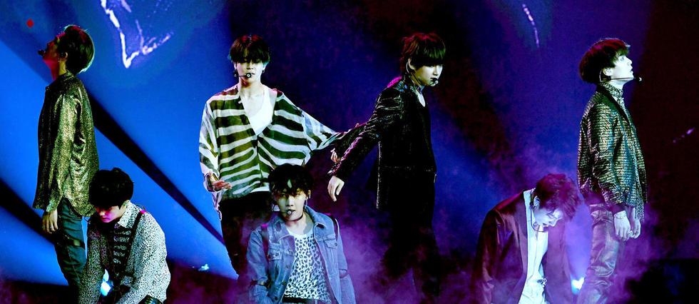 <p>Le groupe de K-pop BTS sur la sc&#232;ne des Billboards Music Awards aux &#201;tats-Unis.&#160;</p>