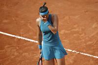 Caroline Garcia quitte Roland-Garros dès les huitièmes de finale.  ©STEPHANE ALLAMAN