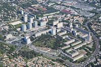 Les quartiers Valdegour et Pissevin, à Nîmes, font partie d'un vaste projet Anru qui comprend notamment la reconstruction de logements. ©Matthieu COLIN