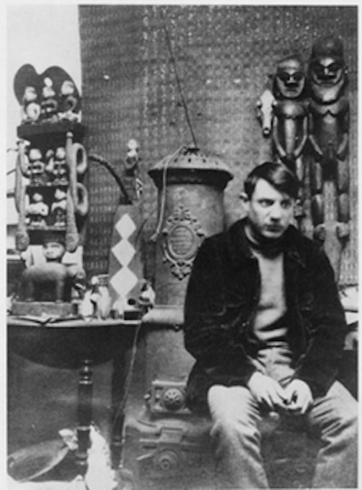 Pablo Picasso dans l'atelier du Bateau-Lavoir, en 1908 (Burgess Gelett Frank, 1866-1951). ©  Musée national Picasso