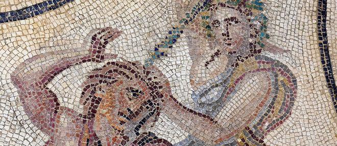 La mosaïque de Penthée (détail) est l'une des pièces maîtresses du musée. Elle a été découverte en 2007lors d'une fouille dans un parking.  ©Stéphane Ramillon