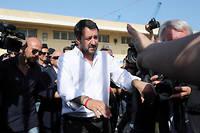 Matteo Salvini, ministre de l'Intérieur italien, l'homme fort du gouvernement.  ©CARMELO LENZO