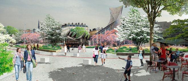 Cœur de métropole,  crédité de 36,2millions d'euros, porte les efforts sur trois pôles du centre historique: le  quartier des musées, les ale ntours de la place du Vieux-Marché et les abords de la cathédrale.