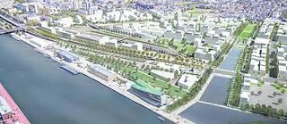 Promenade plantée, jardins… Sur la rive gauche de la Seine, l'écoquartier Flaubert ambitionne de transformer les 90hectares de friches industrielles en lieu de vie «apaisé».