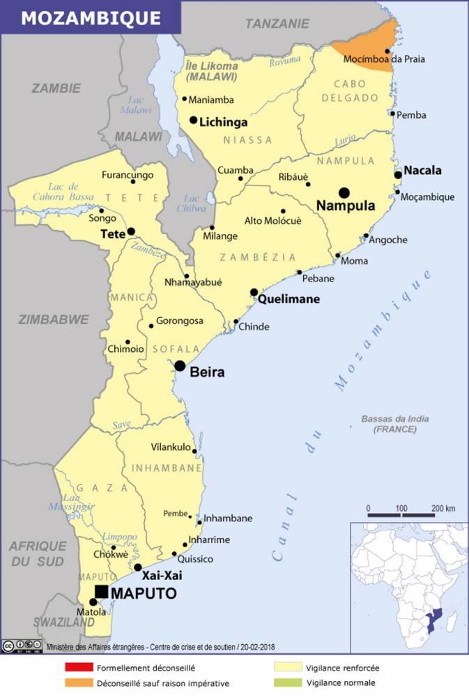 Les attaques de ces derniers mois ont eu lieu dans le nord du Mozambique. Un territoire destiné à devenir une région gazière.  ©  www.diplomatie.gouv.fr