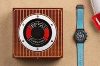 La Classic Fusion Aerofusion Chronograph Eden Roc est proposée en édition limitée. Cinquante modèles numérotés, présentés au sein d'un écrin taillé dans de l'acajou vernissé, sublime évocation du ponton de l'hôtel s'ouvrant sur le bleu infini de la Méditerranée.