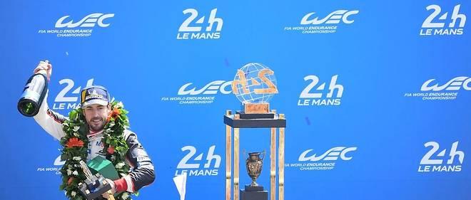 Fernando Alonso podium 24H du Mans 2018