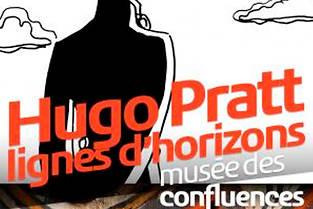 L'affiche de l'exposition Hugo Pratt à Lyon