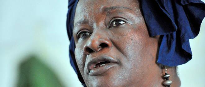 Aminata D. Traoré, le 7 juillet 2008, à Katibougou (Mali).