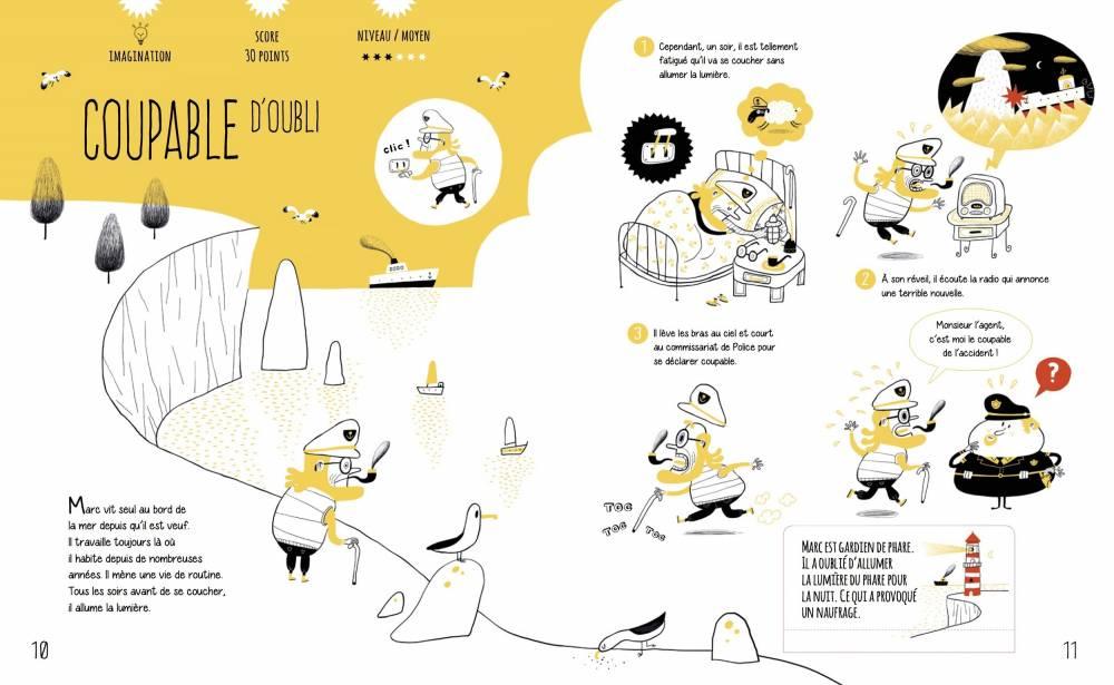 « Enigmes, Creuse-toi les méninges pour démêler 25 mystérieuses affaires » ©  Saltimbanque edition