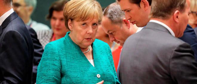 La chancelière Angela Merkel et son homologue autrichien Sebastian Kurz, lors du sommet européen consacré aux migrants, le 28 juin dernier.