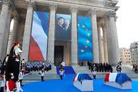 La cérémonie, marquée par une certaine émotion, a rendu hommage à la vie et à l'œuvre de Simone Veil. ©LUDOVIC MARIN