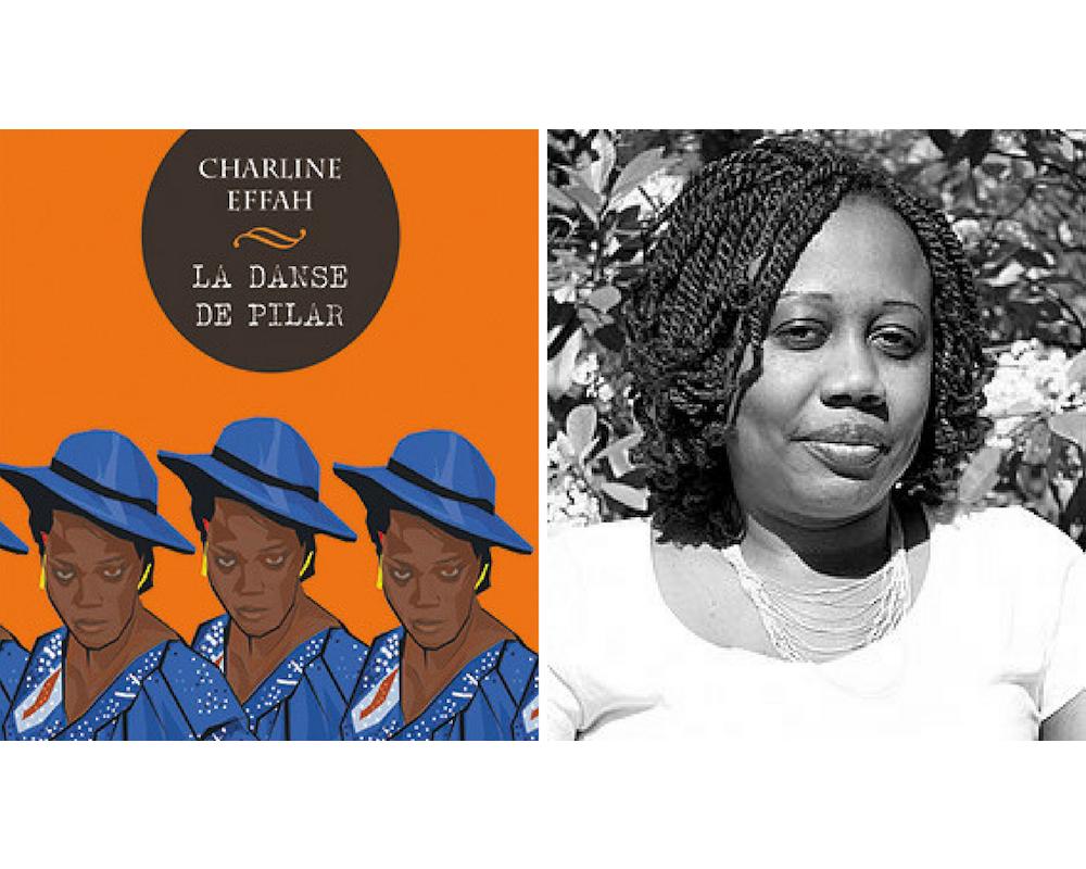 """Couverture du livre """"La danse du Pilar"""" de Charline Effah avec une photo de l'auteure gabonaise.  ©  DR"""