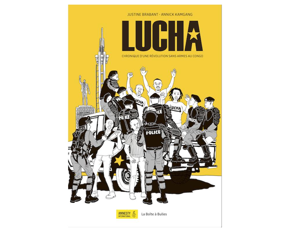 «  Lucha, chronique d'une révolution sans arme au Congo » est une bande-dessinée imaginée par Annick Kamgang et Justine Brabant.  ©  La boîte à bulles