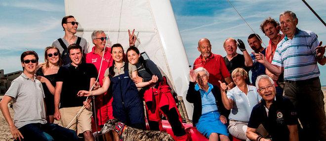 Les touquettois, pilotes de génération en génération. Ici, les Lenglart, Lambert, Tricart, Demoury… le samedi 23juin.  ©Romain GAILLARD/REA