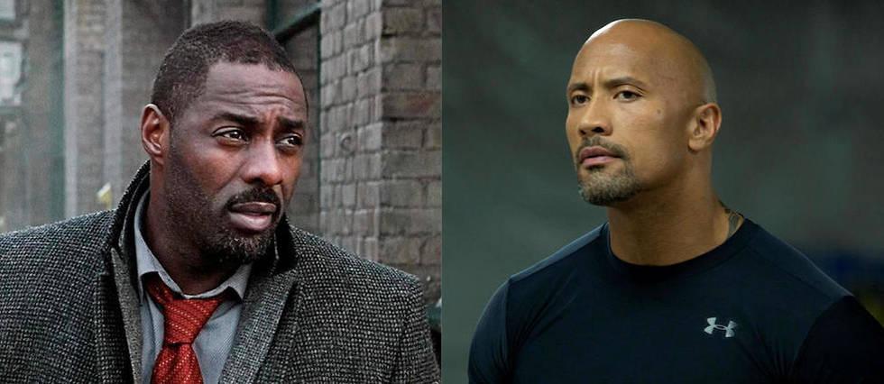 <p>Idris Elba dans la s&#233;rie <em>Luther</em>, et Dwayne Johson dans <em>Fast and Furious 8</em>.</p>