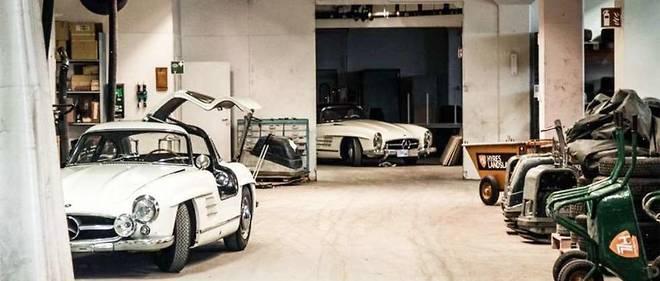 L'incroyable découverte dans un garage suédois chauffé de ces deux 300 SL en parfait état, le roadster étant à l'état neuf.