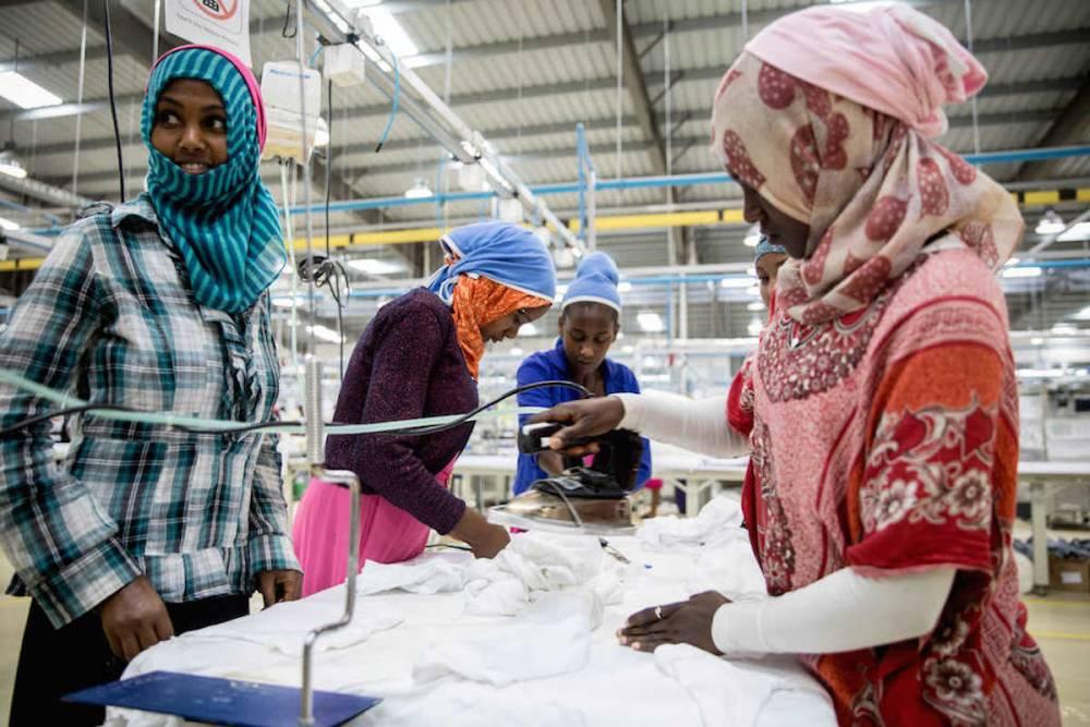 Dans le domaine économique, l'Éthiopie a misé sur le développement en signant des accords économiques avec l'Europe et les États-Unis, supprimant les droits de douane.  ©  AFP/KAY NIETFELD