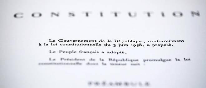 Le préambule de la Constitution de 1958.
