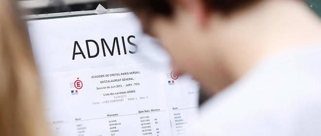 Une liste des candidats admis à l'examen du baccalauréat (photo d'illustration).
