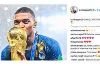 La photo postée sur Instagram par Kylian Mbappé à l'issue de la victoire face à la Croatie en Coupe du monde comptait mardi plus de 2 998 000 like ce mardi.