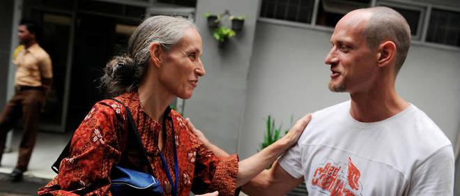 Michaël Blanc et sa mère en 2011.