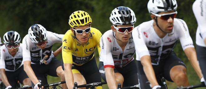 Le coureur gallois Geraint Thomas domine toujours le classement général du Tour de France, à une semaine de l'arrivée à Paris.  ©Bettini Luca