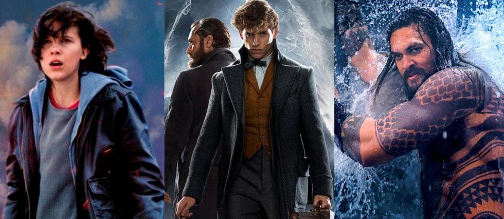 <p>Godzilla, Les Animaux fantastiques et Aquaman comptent parmi les films les plus attendus de la fin d'année 2018 et début d'année 2019.</p>