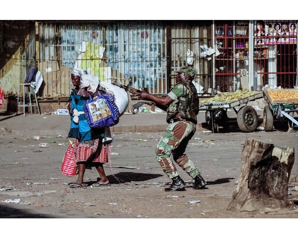 ZIMBABWE-VOTE-UNREST ©  ZINYANGE AUNTONY / AFP