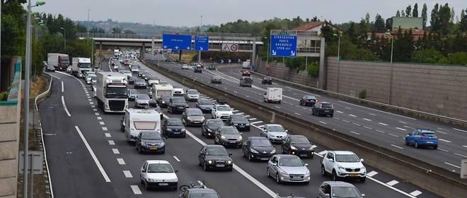 La circulation sur l'autoroute près de Lyon (illustration).