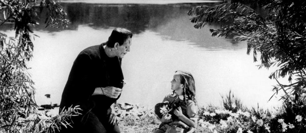 <p>Frankenstein, de James Whale (1931) : première adaptation cinématographique des sinistres aventures du docteur apprenti sorcier et de sa dangereuse créature. Sous l'impressionnant maquillage : l'acteur Boris Karloff, instantanément starisé par le rôle.</p>